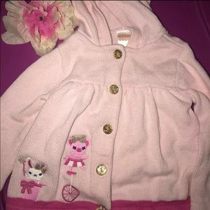 Gymboree Hooded Pink Cardigan